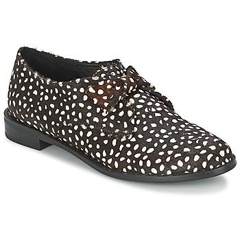 Zapatos Mujer Derbie F-Troupe Bow Polka Negro / Blanco