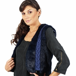 textil Mujer Chaquetas / Americana April First GILET SANS MANCHE Azul