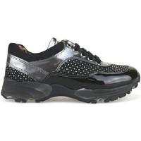Zapatos Niña Zapatillas bajas Nada sneakers negro gamuza gris charol strass AH189 multicolor