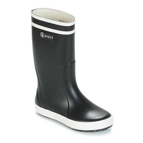 Zapatos Niños Botas de agua Aigle LOLLY POP Marino / Blanco