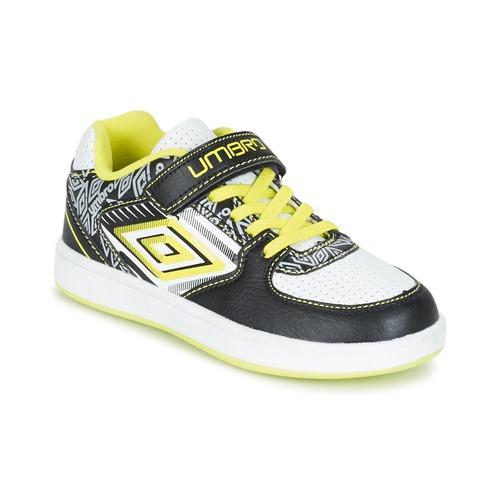Zapatos Niño Zapatillas bajas Umbro COGAN Negro / Blanco / Amarillo