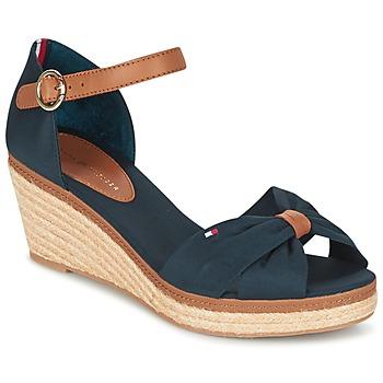 Zapatos Mujer Sandalias Tommy Hilfiger ELBA 40D Marino / Marrón
