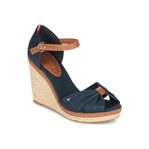 Zapatos Mujer Sandalias Tommy Hilfiger ELENA 56D Marino / Marrón