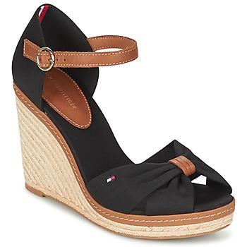 Zapatos Mujer Sandalias Tommy Hilfiger ELENA 56D Negro / Marrón