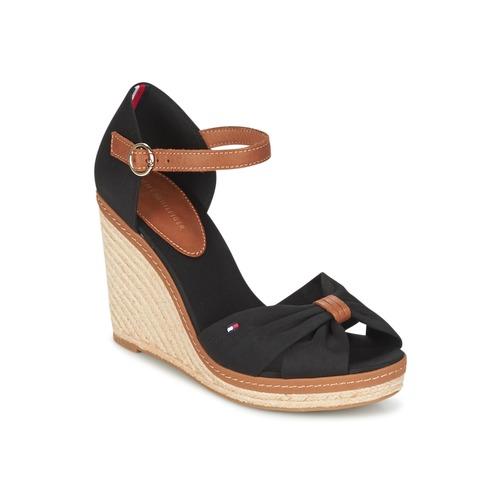 Zapatos promocionales Tommy Hilfiger ELENA 56D Negro / Marrón  Zapatos de mujer baratos zapatos de mujer