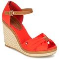 Zapatos Mujer Sandalias Tommy Hilfiger ELENA 56D Coral / Marrón