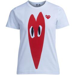 textil Mujer Camisetas manga corta Comme Des Garcons Camiseta  blanca con corazón rojo Blanco