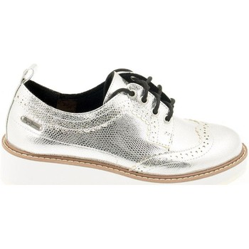 Zapatos Mujer Richelieu Pepe jeans ZAPATO PEPE JEANS PLS 10235 RAMSY METAL PLATA Plateado