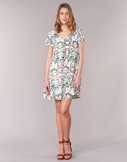 textil Mujer vestidos cortos Compania Fantastica EPINETA Blanco / Verde / Rosa