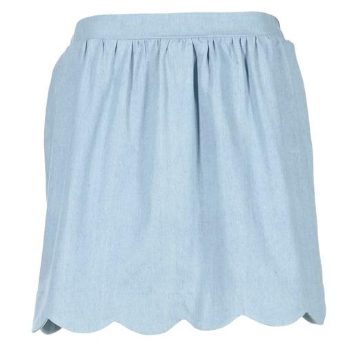textil Mujer Faldas Compania Fantastica EFESTONA Azul / Celeste
