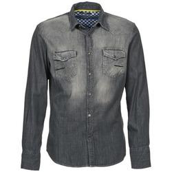 textil Hombre camisas manga larga Meltin'pot CAREY Gris