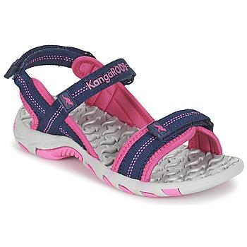 Zapatos Niña Sandalias de deporte Kangaroos MUSER Marino / Rosa