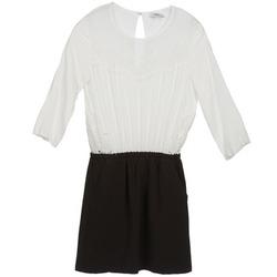 textil Mujer vestidos cortos Suncoo CELESTINE Negro / Blanco