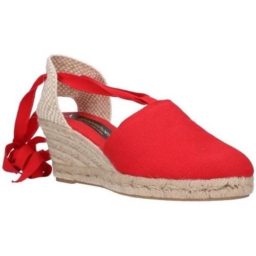 Fernandez VALENC. CINTAS Mujer Rojo rouge - Zapatos Alpargatas Hombre