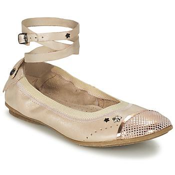 Zapatos Niña Bailarinas-manoletinas Ikks EMILY Beige / Rosa