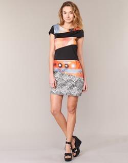 textil Mujer vestidos cortos Smash SERPENS Negro / Naranja / Gris