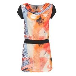 textil Mujer vestidos cortos Smash CITRON Naranja / Negro