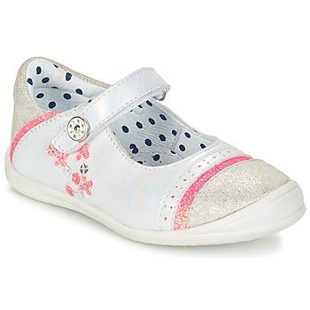 Zapatos Niña Bailarinas-manoletinas Catimini PIPISTRELLE Plateado / Coral