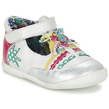 Zapatos Niña Bailarinas-manoletinas Catimini PANTHERE Blanco / Plateado