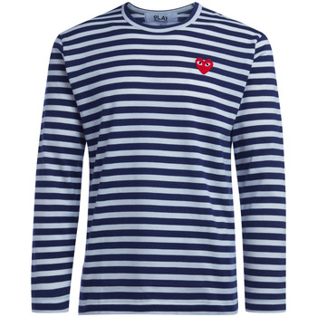 textil Hombre Camisetas manga larga Comme Des Garcons Camiseta de hombre  de rayas Azul