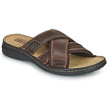 Zapatos Hombre Zuecos (Mules) TBS BENAIX Marrón