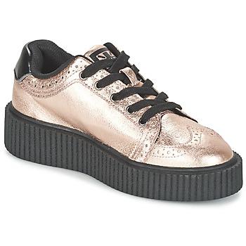 Zapatos Mujer Zapatillas bajas TUK CASBAH CREEPERS Rosa / Metalico
