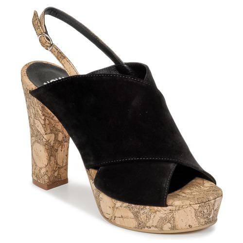 Zapatos Mujer Zuecos (Clogs) Now PAPIRON Negro