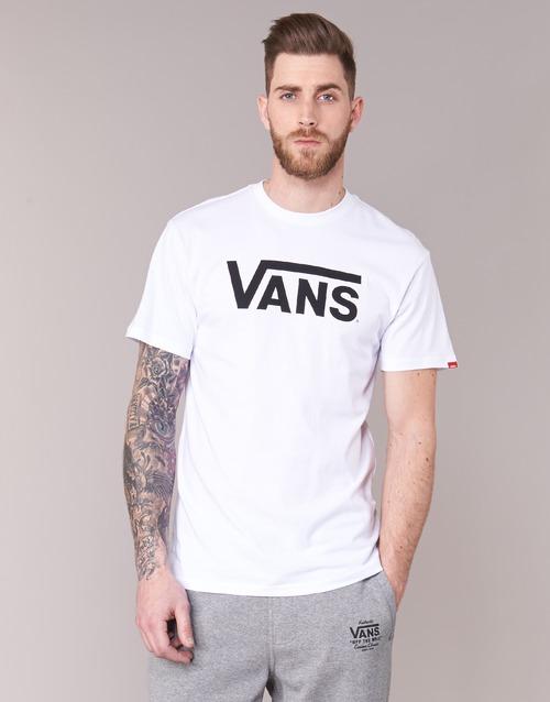 Manga Textil Classic Vans Camisetas Hombre Corta Blanco fYb6y7vg