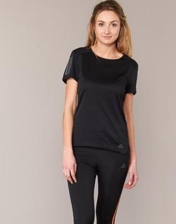 textil Mujer camisetas manga corta adidas Performance RS SS TEE W Negro