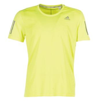textil Hombre camisetas manga corta adidas Performance RS SS TEE M Amarillo