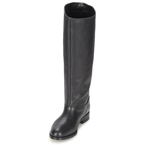 Mujer Chic Moschino Botas Buckle Urbanas Cheapamp; Negro Zapatos cAL53Rjq4