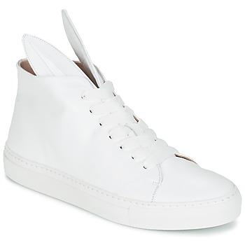 Zapatos Mujer Zapatillas altas Minna Parikka BUNNY SNEAKS Blanco