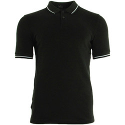 textil Hombre polos manga corta Fred Perry Slim Fit Tipped Shirt Hunt Green Negro