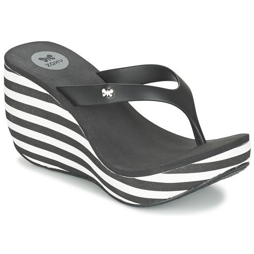 Zapatos Mujer Chanclas Zaxy LIPSTICK V Negro / Blanco