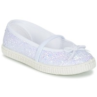 Zapatos Niña Bailarinas-manoletinas Chipie SALSABA Glitter / Blanco