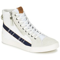 Zapatos Hombre Zapatillas altas Diesel D-STRING PLUS Blanco / Azul