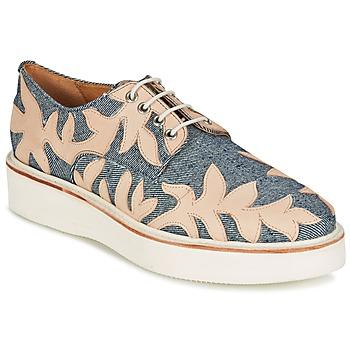 Zapatos Mujer Derbie Melvin & Hamilton MOLLY 11 Azul / Beige