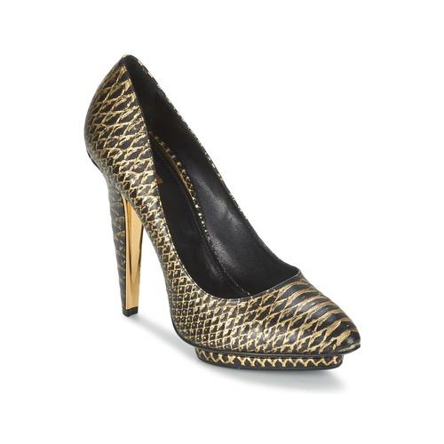 Zapatos Mujer Zapatos de tacón Roberto Cavalli YDS622-UC168-D0007 Negro / Dorado
