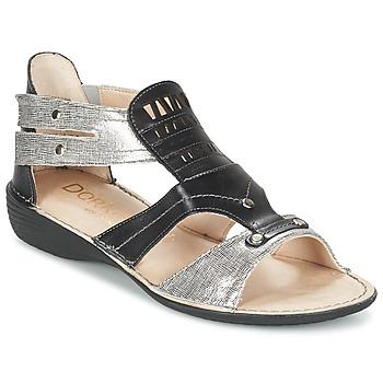 Zapatos Mujer Sandalias Dorking ODA Negro / Plateado