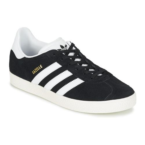 Zapatos Niños Zapatillas bajas adidas Originals GAZELLE J Negro