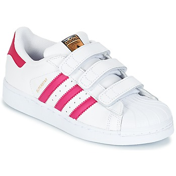 Zapatos Niña Zapatillas bajas adidas Originals SUPERSTAR FOUNDATIO Blanco
