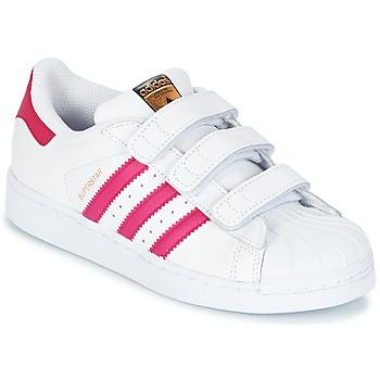 Zapatos Niña Zapatillas bajas adidas Originals SUPERSTAR FOUNDATIO Blanco