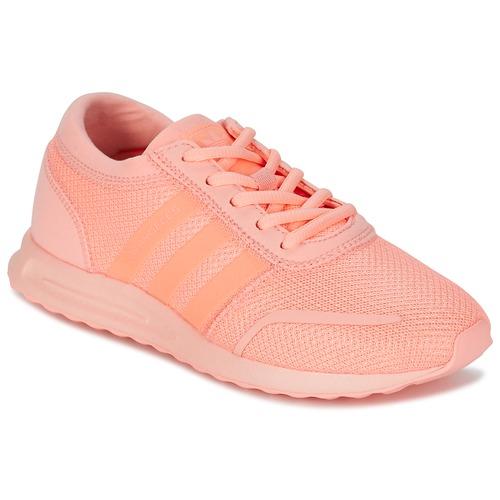 Zapatos Niña Zapatillas bajas adidas Originals LOS ANGELES J Rosa / Coral