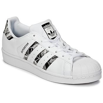 Zapatos Mujer Zapatillas bajas adidas Originals SUPERSTAR W Blanco