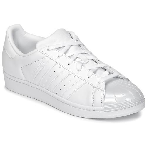 Zapatos Mujer Zapatillas bajas adidas Originals SUPERSTAR GLOSSY TO Blanco