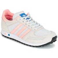 Zapatos Niños Zapatillas bajas adidas Originals LA TRAINER J Blanco / Rosa