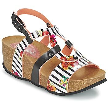 Zapatos Mujer Sandalias Desigual BIO 9 FLORES Negro / Blanco / Florido
