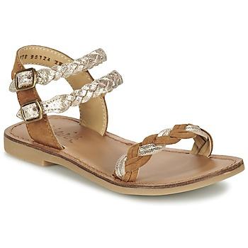 Zapatos Niña Sandalias Shwik LAZAR WOWO Camel / Oro