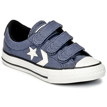 Zapatos Niño Zapatillas bajas Converse STAR PLAYER 3V VINTAGE CANVAS OX Azul / Blanco