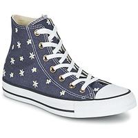 Zapatos Mujer Zapatillas altas Converse CHUCK TAYLOR ALL STAR DENIM FLORAL HI Marino / Amarillo / Blanco